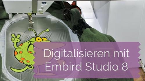 Digitalisieren lernen mit Embird Studio 8 – Satinkolumnen