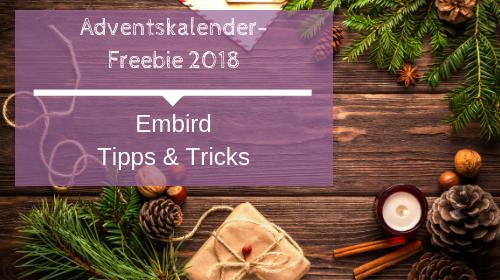 Adventskalender-Freebie 2018 Embird
