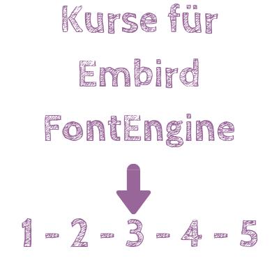 Embird FontEngine Kurse