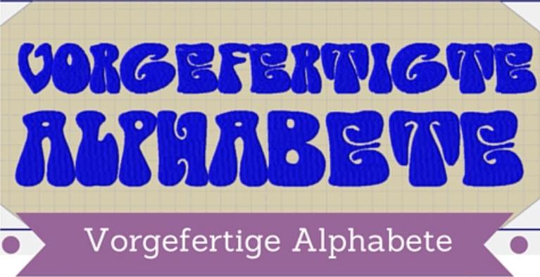 Vorgefertigte Alphabete mit Embird